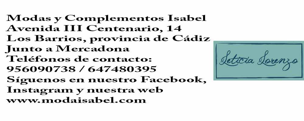Leticia Lorenzo: puntos de venta trajes de flamenca de Leticia Lorenzo