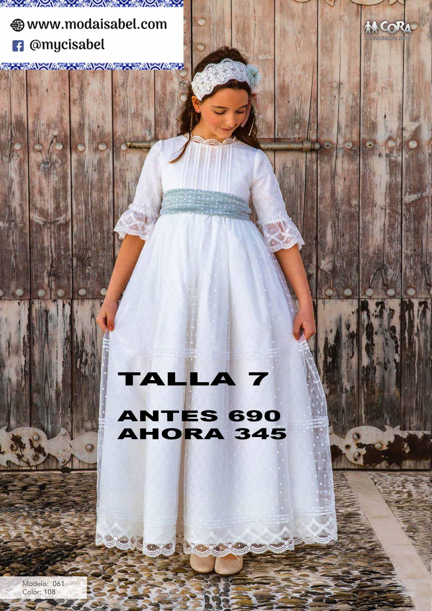 59 Vestido Comunion Outlet 2020 Cora Moda Isabel