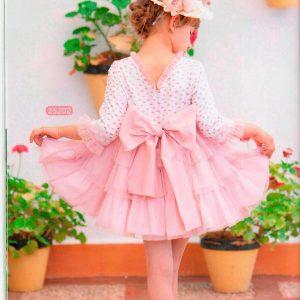 Vestido 006 falda rosa y camisa de la marca Dulce Nena