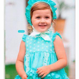 Vestido 007 verde agua de la marca Dulce Nena