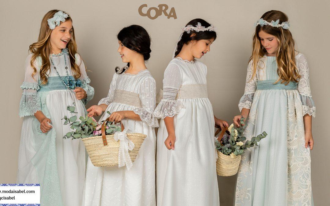 Cora: catálogo de vestidos y trajes de comunión 2022 para niñas y niños